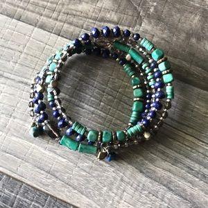 Silpada Howlite Lapis Wrap Bracelet